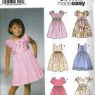 Girls Dress Sewing Pattern Simplicity 5704 Size 3, 4, 5, 6, 7, 8