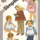 Simplicity 5733 Girls Top, Pinafore, Panties Sewing Pattern Size 2