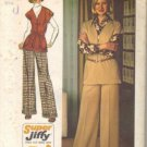 Simplicity 5739 Misses 70s Top, Pants Vintage Sewing Pattern Size 10