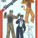 Simplicity 5739 Boy, Girl Animal Costume Sewing Pattern Size 10, 12