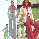 Simplicity 5750 Misses 70s Shirt Jacket, Pants Sewing Pattern Size 10