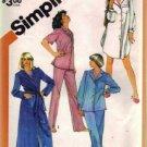 Simplicity 5786 Misses Pajamas Nightshirt Robe Sewing Pattern Size Large