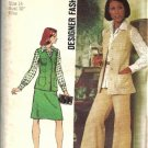 Simplicity 5812 Simplicity Vest, Skirt, Pants Sewing Pattern Size 14