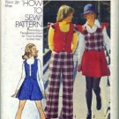 Misses Vest, Mini Skirt, Pants Sewing Pattern Size 14 Simplicity 5852