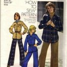 Simplicity 5854 Misses 70s Shirt-Jacket, Pants Sewing Pattern Size 14