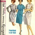 Simplicity 5878 Misses Proportioned Shift Dress 60s Sewing Pattern Size 12