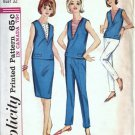 Simplicity 5896 Misses 60s Top, Skirt, Slacks Sewing Pattern Size 12