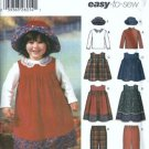 Simplicity 5936 Girls Jumper Top Hat Sewing Pattern Size 1/2, 1, 2, 3, 4
