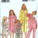 Simplieicy 5941 Girls Sleepwear, Robe Sewing Pattern Size 3, 4, 5, 6