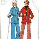 Misses 70s Ski Jacket, Pants Sewing Pattern Size 10 Simplicity 5985