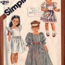 Simplicity 6062 Girls 80s Dress, Sundress Sewing Pattern Size 5