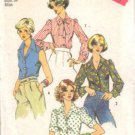 Simplicity 6161 Misses 70s Blouse Vintage Sewing Pattern Size 12