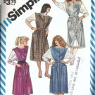 Simplicity 6181 Misses Jumper, Top 80s Vintage Sewing Pattern Size 10