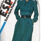 Simplicity 6198 Misses Tucked Dress 80s Sewing Pattern Size 16, 18, 20