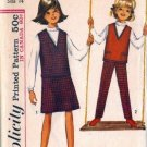 Simplicity 6213 Girls Top, Skirt, Pants Vintage Sewing Pattern Size 14