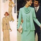 Simplicity 6217 Misses 70s Cowl Dress, Cardigan Sewing Pattern Size 10