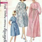 Vintage Sewing Pattern Misses Empire Robe 60s Simplicity 6247 Size 9