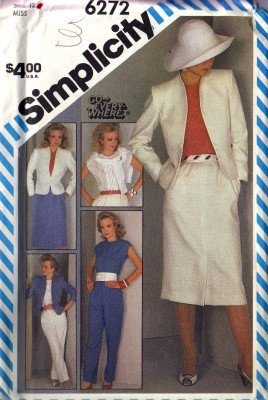 Simplicity 6272 Misses Jacket, Top, Skirt, Pants Sewing Pattern Sz 12