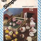 Simplicity 6353 Marjorie Puckett Barnyard Animals 80s Sewing Pattern