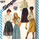 Simplicity 6370 Misses Gathered Skirt Sewing Pattern Size 16