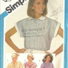Simplicity 6410 Misses Tucked Shirt Vintage Sewing Pattern Size 14