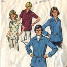 Simplicity 6436 Misses 70s Pullover Shirt Sewing Pattern Size 14