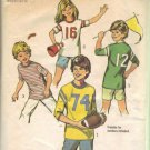 Simplicity 6479 Boys, Girls 70s Sports T Shirt Sewing Pattern Size 10