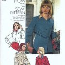Misses Blouse 70s Vintage Sewing Pattern Simplicity 6517 Size 16