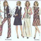 Simplicity 6525 Misses Jumper, Pants, Vest 70s Sewing Pattern Size 14