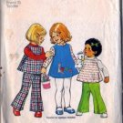 Girls Dress, Top, Bell Bottoms Sewing Pattern Size 2 Simplicity 6531
