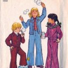Simplicity 6533 Girls Jacket, Bell Bottom Pants Sewing Pattern Size 6