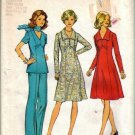 Misses 70s Dress Top Pants Sewing Pattern Size 10, 12 Simplicity 6557