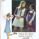 Simplicity 6566 Girls Dress, Jumper Vintage Sewing Pattern Size 12