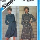 Simplicity 6591 Misses Dress 80s Vintage Sewing Pattern Size 12