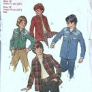 Simplicity 6641 Boys Shirt Jacket 70s Vintage Sewing Pattern Size 10