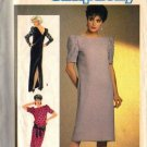 Simplicity 6679 Misses Back Button Dress Sewing Pattern Size 10, 12, 14