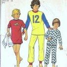 Simplicity 6692 Boys Knit Pajamas Vintage Sewing Pattern Size 10, 12