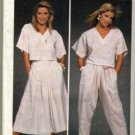 Simplicity 6742 Misses 80s Top, Skirt, Pants Sewing Pattern Size 6