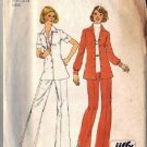 Simplicity 6790 Misses 70s Shirt Jacket, Pants Sewing Pattern Size 10