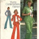 Simplicity 6792 Misses 70s Shirt, Pants, Scarf Sewing Pattern Size 10