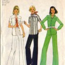 Simplicity 6875 Misses Retro Shirt Jacket, Pants Sewing Pattern Size 12