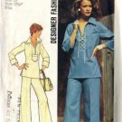 Simplicity 6895 Misses 70s Laced Top, Pants Sewing Pattern Size 10