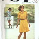 Simplicity 6962 Misses 70s Dress Vintage Sewing Pattern Size 12