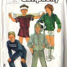 Simplicity 7020 Boys Jacket Top Pants Shorts Sewing Pattern 7, 8, 10