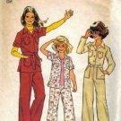 Girls 70s Shirt Jacket Pants Sewing Pattern Size 8 Simplicity 7034