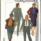 Misses Jacket, Vest, Skirt, Pants Sewing Pattern Sz 16 Simplicity 7043