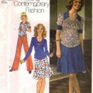 Misses 70s Top, Skirt, Pants Sewing Pattern Simplicity 7045 Size 10