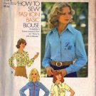 Simplicity 7078 Misses 70s Monogram Blouse Sewing Pattern Size 8