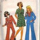 Simplicity 7105 Girls Retro Sewing Pattern Dress, Top, Pants Size 10