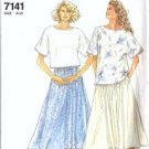Simplicity 7141 Misses 90s Top, Skirt Sewing Pattern Size 8, 10, 12